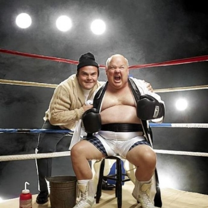 As Tenacious D, Jack Black, left, and Kyle Gass have gone all out on &quot;Rize of the Fenix,&quot; which was nominated for a Grammy.