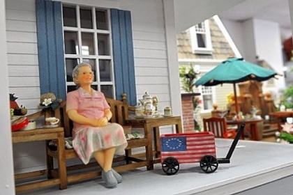 "A display titled ""Rose"" also is at Lynlott Miniatures Dollhouse Junction in Aspinwall."