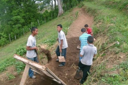 At the agricultural school in Honduras, students -- who live there three days a week -- learn best agricultural practices so they can return to their communities and improve coffee-growing techniques.
