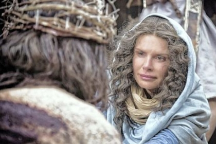 "Roma Downey portrays Mary, mother of Jesus, in ""The Bible"" on the History cable network."