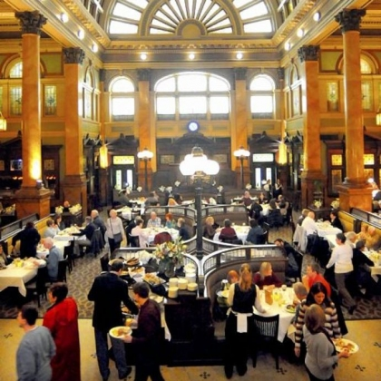 Sunday brunch at the Grand Concourse in Station Square is always a spectacle.