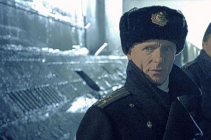 Ed Harris, left, is the captain of a Soviet submarine, with William Fichtner as his second in command, in &quot;Phantom.&quot;