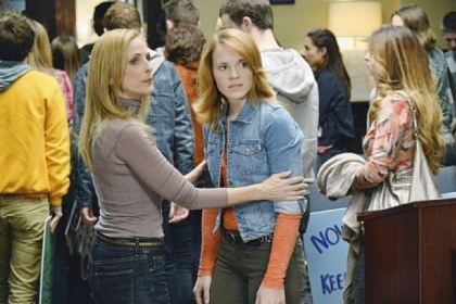 "Marlee Matlin, left, and Katie Leclerc in ""Switched at Birth."""
