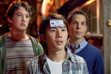 Miles Teller, Justin Chon and Skylar Astin in &quot;21 & Over.&quot;