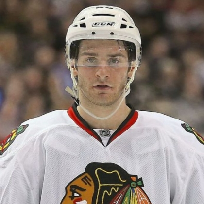 Gibsonia native Brandon Saad of the Chicago Blackhawks at American Airlines Center on January 24, 2013 in Dallas, Texas.