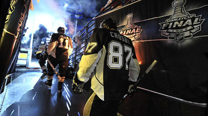 Penguins captain Sidney Crosby makes his way to the ice for Game 3 of the Stanley Cup Finals in 2009. The NHL has reached an agreement to end the lockout, meaning hockey will return this season.