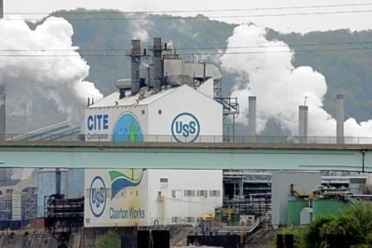 The U.S. Steel Clairton coke plant in Clairton.