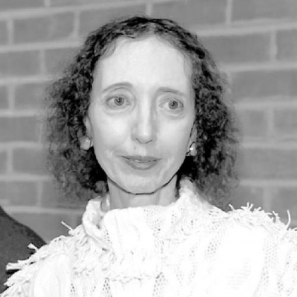 "Joyce Carol Oates, author of ""The Accursed."""
