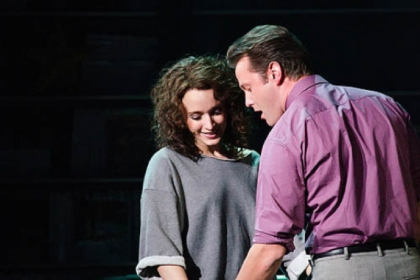 "Emily Padgett as Alex and Matthew Hydzik as Nick in the national tour of ""Flashdance the Musical."""