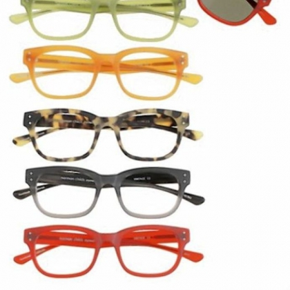 Vintage eyeglass styles from the Norman Childs eyewear collection, $450.