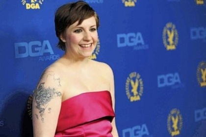 Lena Dunham == Tweeting about the racist graffiti at her alma mater Oberlin College.