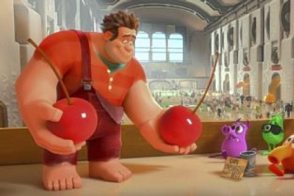 "John C. Reilly provides the voice of Ralph, left, a video game character in search of redemption, in ""Wreck-It Ralph."""