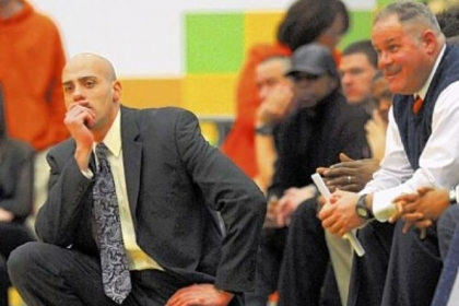 Beaver Falls coach Doug Biega watches his team in the WPIAL Class AA basketball championship last Saturday.