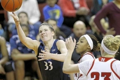 Maggie Lucas, left, is Penn State&#039;s first Big Ten Conference player of the year since Kelly Mazzante in 2004.