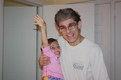 Richard P. Reinherz with granddaughter Tahara.