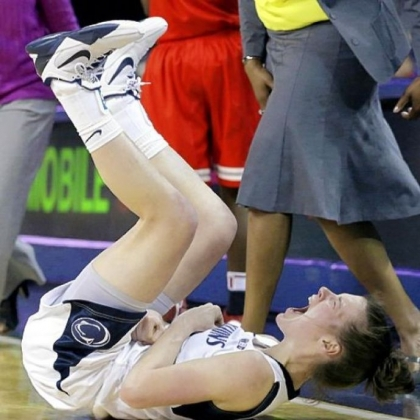 Penn State guard Maggie Lucas celebrates after making a 3-pointer against Ohio State in the second half Friday night.