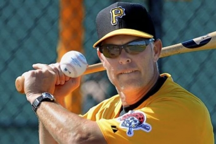 "Pirates hitting coach Jay Bell: ""As everything starts getting crazy around us, we want to make sure that internally, we're taking that 'one-two-three, one-two-three' thought process into the game."""