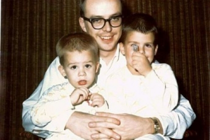 Bob Hainey with sons Michael (the author, at left) and Richard.