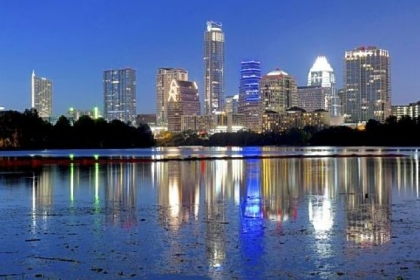 Take it to the limits: The Austin skyline reflected in Lady Bird Lake.