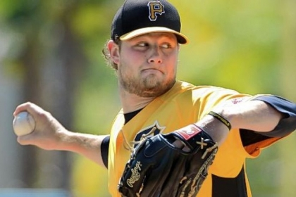 Pirates pitcher Gerrit Cole allowed two runs on two hits in four innings Sunday against the Orioles in Sarasota, Fla.