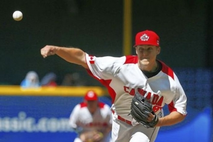 Pirates pitcher Jameson Taillon, playing for Canada in the World Baseball Classic, throws against the United States Sunday in Phoenix. Taillon allowed one earned run and struck out three over four innings as Canada lost, 9-4.