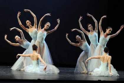 "Pittsburgh Ballet Theatre performs ""Serenade"" by George Balanchine, part of a triple bill called ""Unspoken,"" at the August Wilson Center, Downtown."