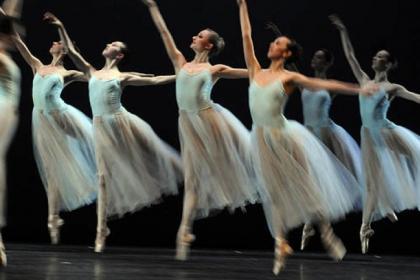 "Pittsburgh Ballet Theatre performs ""Serenade"" by George Balanchine."