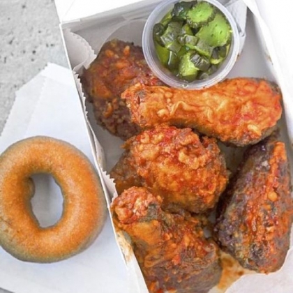 Twice-fried chicken from Federal Donuts (1219 S. Second St.).
