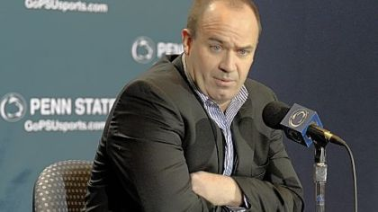 Penn State coach Bill O''Brien speaks during a news conference Monday.