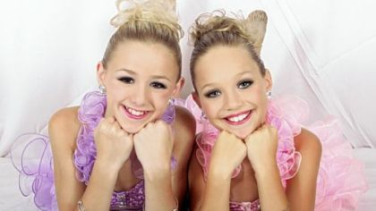 "Chloe Lukasiak and Maddie Ziegler of the Lifetime reality TV series ""Dance Moms"" wear jewelry from The Glitzy Girl collection."