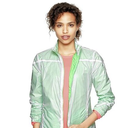 GapFit reflective nylon jacket, $64.95 by Gap at www.gap.com.