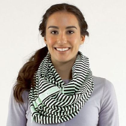 Vinyasa scarf, $48 at lululemon athletica, www.lululemon.com.