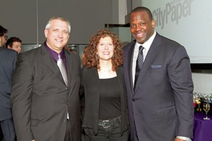 Mike Tomaro, Lisa Ferraro and Chuck Sanders.