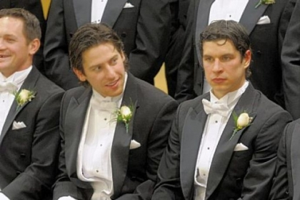 James Neal and Sidney Crosby.