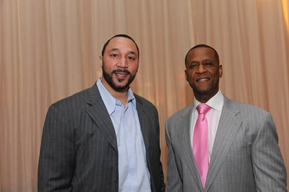 Charlie Batch with Curtis Aiken.