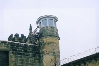 Guard tower, Moundsville penitentiary.