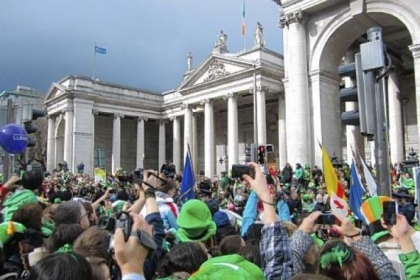 St. Patrick&#039;s Day Parade in Dublin attracts more than 1 million visitors.