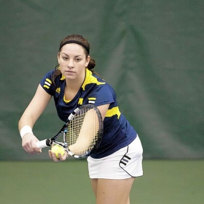 Ronit Yurovsky has already had an impact on the Michigan tennis team.