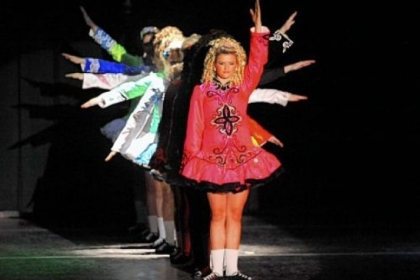 In a celebration of heritage, dancers from the Bell School of Irish Dance perform a colorful routine.