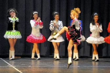 Dancers from the Bell School of Irish Dance perform during their showcase event at Marshall Middle School in Marshall.