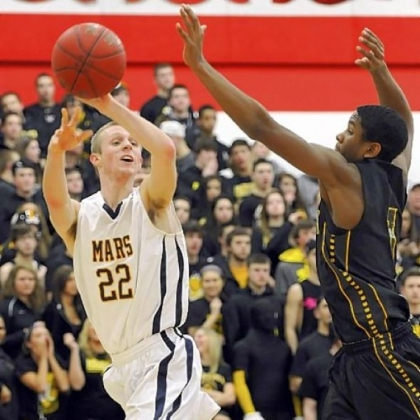 Montour's Justin Hill, right, and the Spartans are seeking their third consecutive trip to the PIAA final.