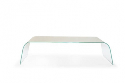 Claro tempered glass cocktail table by Mitchell Gold   Bob Williams available through Weisshouse.