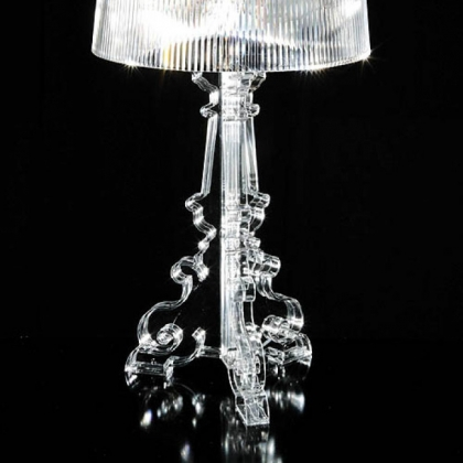 Kartell&#039;s Bourgie transparent lamp.