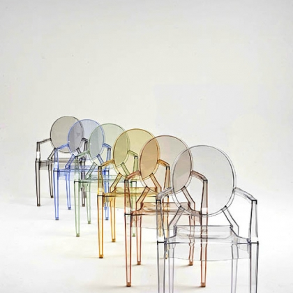 Louis Ghost Chairs by Philippe Starck for Kartell.