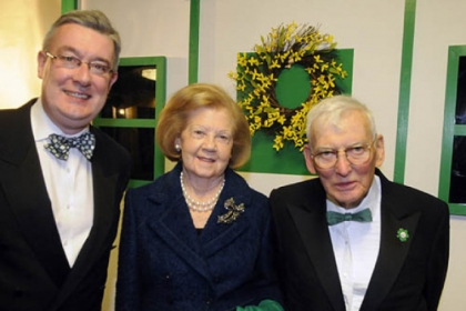 Worldwide Ireland Fund CEO Kieran McLoughlin with Patricia and Dan Rooney.