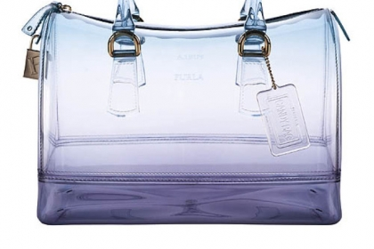 Candy Sunset bauletto in turquoise from Furla USA.