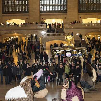 Nick Cave&#039;s &quot;HEARDNY&quot; in Grand Central Terminal in New York City.