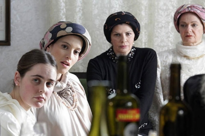 "Orthodox Jewish women from Tel Aviv in the award-winning Israeli film ""Fill the Void,"" which will be screened April 15.Orthodox Jewish women from Tel Aviv in the award-winning Israeli film ""Fill the Void."""