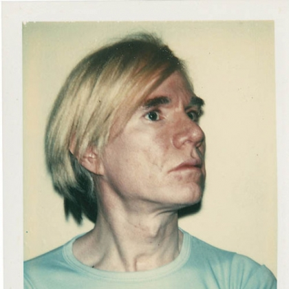 Andy Warhol, self-portrait, 1977.  Unique Polacolor Type 108 print.