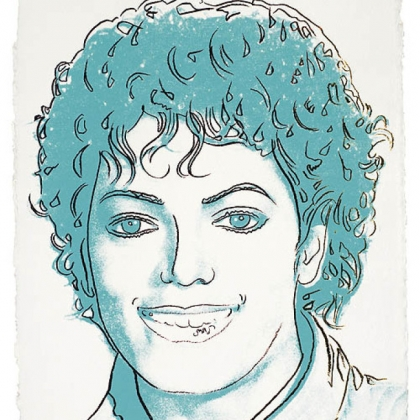 Andy Warhol&#039;s Michael Jackson, screenprint in colors, 1984, on HMP paper.